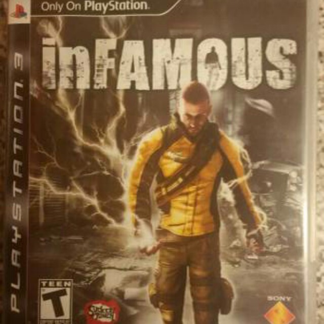 Infamous Sony Playstation PS3 Action Adventure Video Game