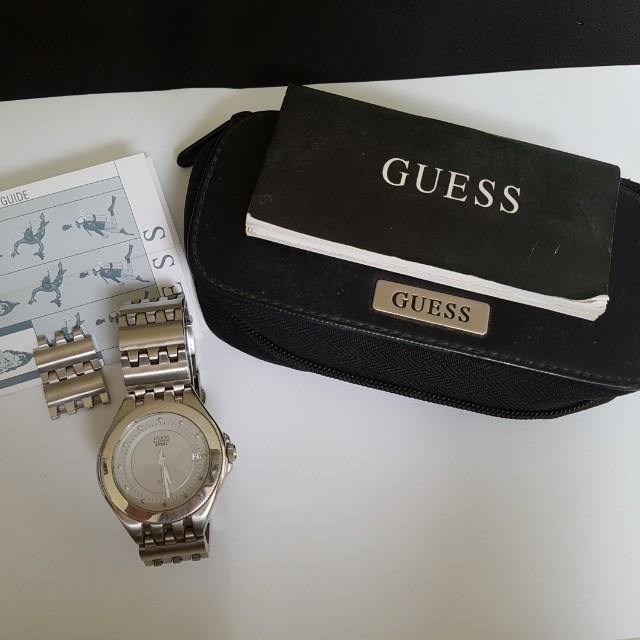 jam tangan guess waterpro steel bekas