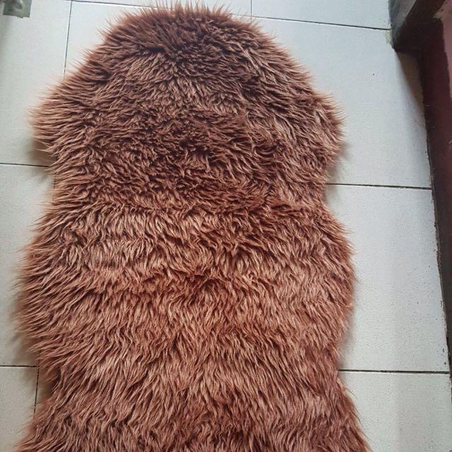 Karpet bulu model ikan  65x100