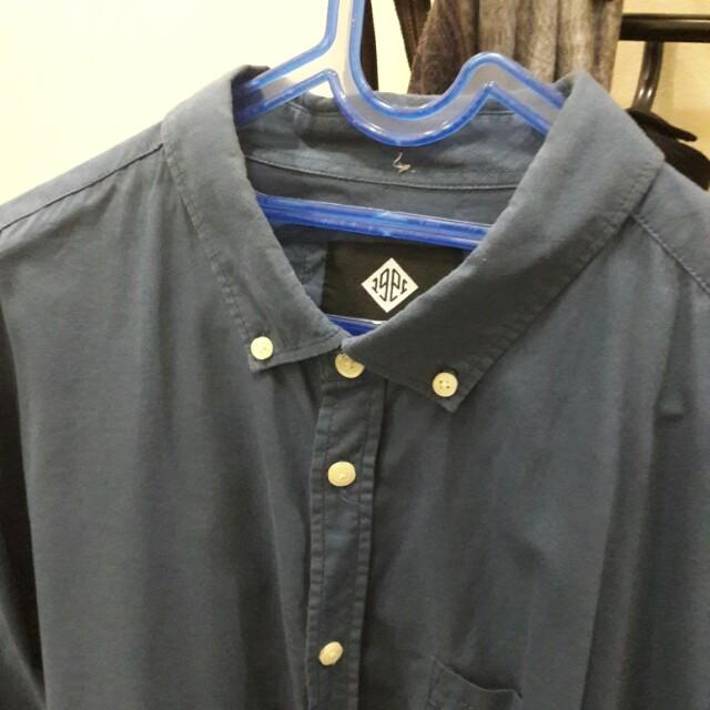 Kemeja Formal Navy Cotton On size XL