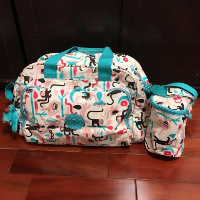 ⚠️歲末出清大降價!Kipling 限量花色 媽媽包旅行袋送拉鍊頭賣場米白托特小袋