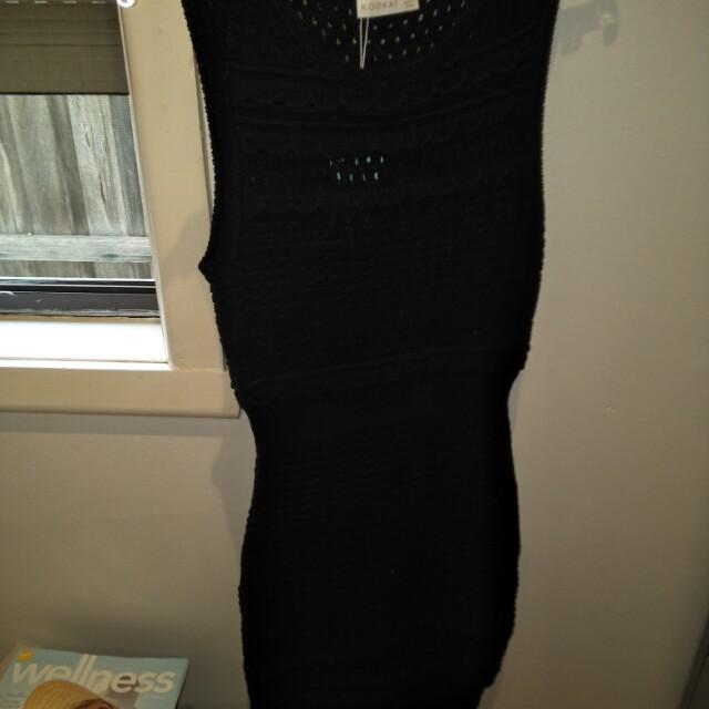 Kookai Crochet Dress Black Size 1