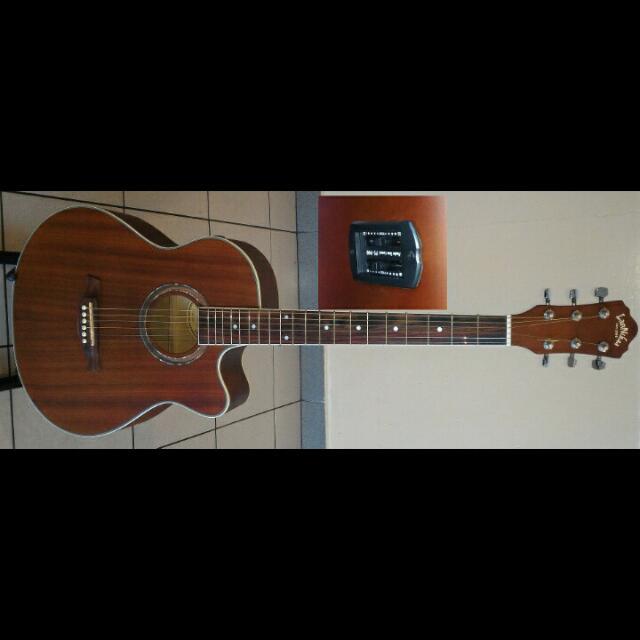 LanNikaa Semi Acoustic Guitar 40Inch #4045E Mahogany
