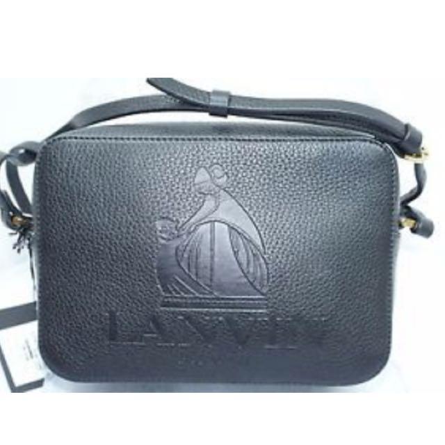 Lavin Black Embossed Logo Crosby Shoulder Bag