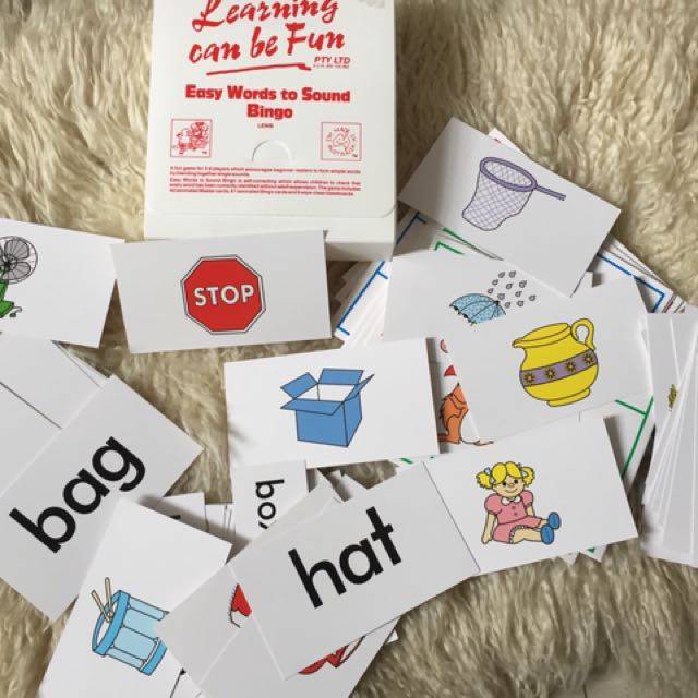 Learning Can Be Fun Easy Words To Sound Bingo