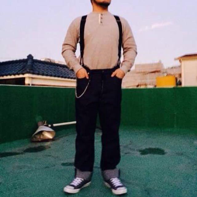 Leata復古工裝吊帶(皮革)