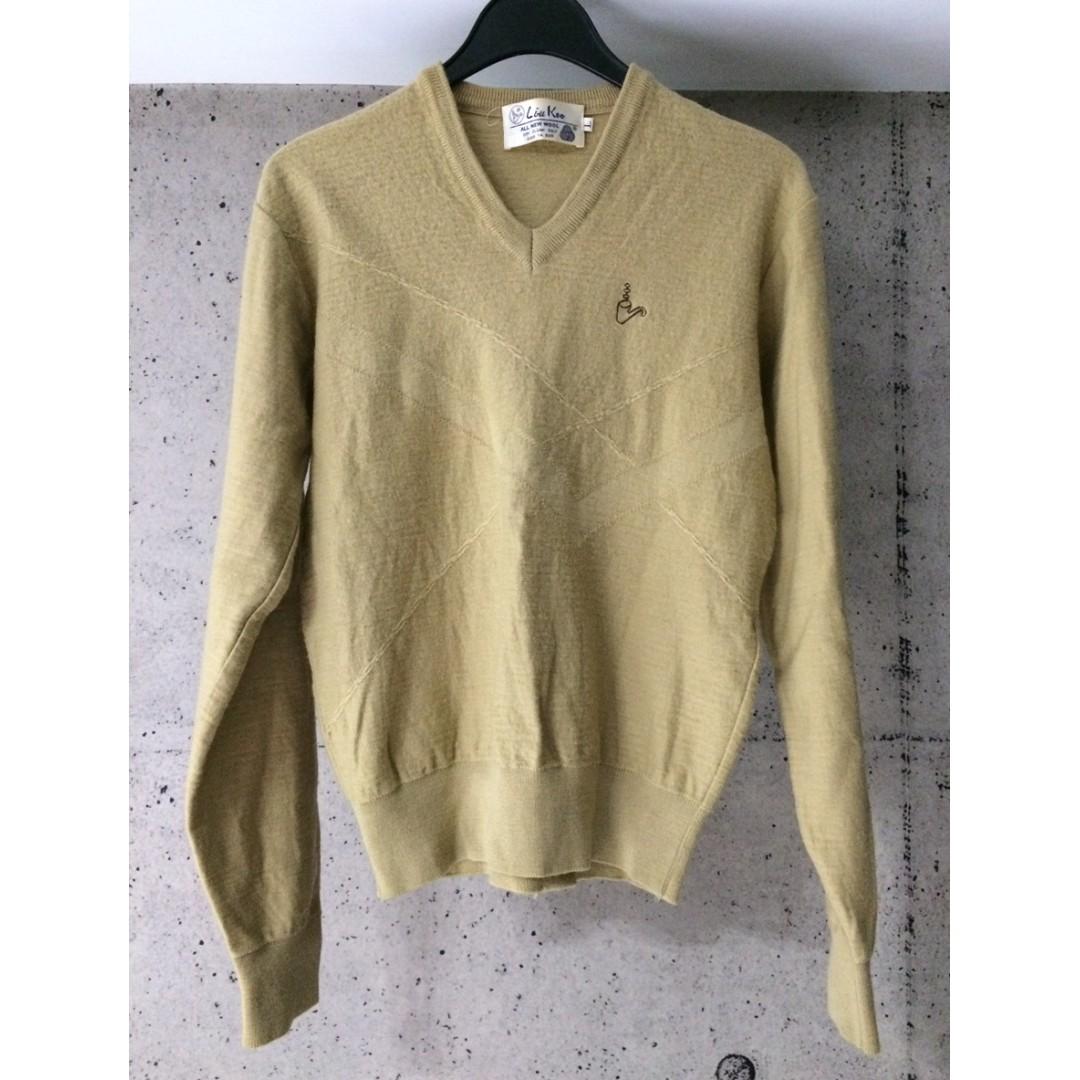 liu koo V領羊毛衣