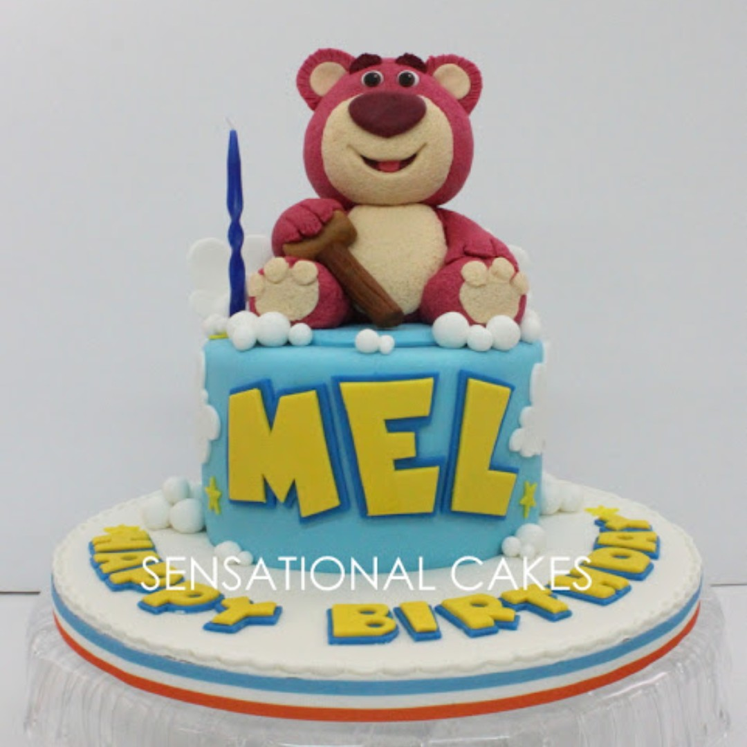 Awesome Lotso Bear Toy Story 3D Cake Singapore Toy Theme Inspired Bear Funny Birthday Cards Online Alyptdamsfinfo