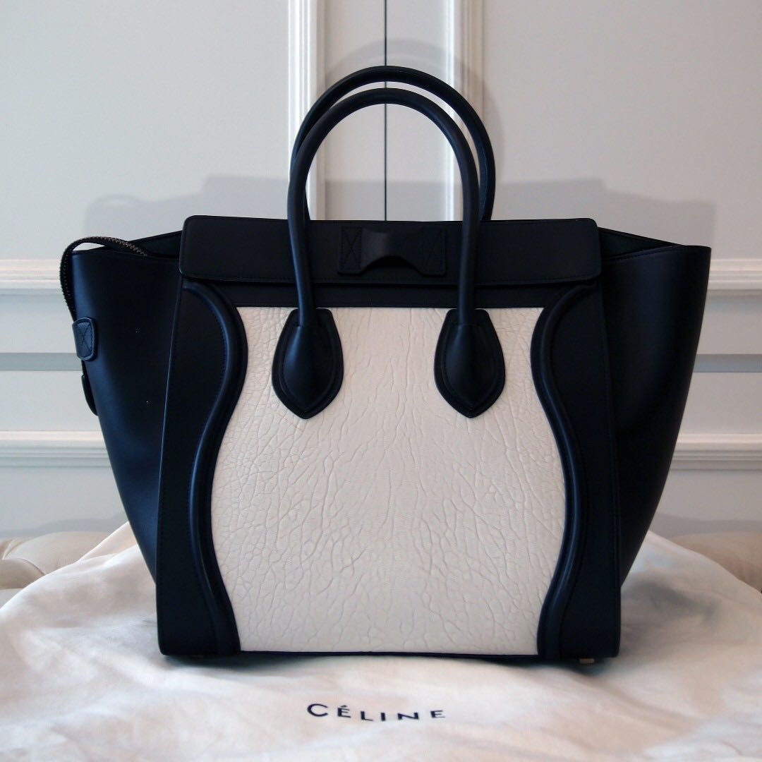 LOWERED PRICE   (PRE-OWNED) CELINE MINI LUGGAGE TOTE (BAG) ba32ec8c9b348