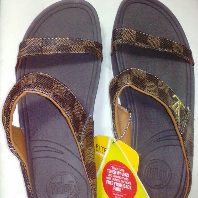 LV fitflop sandals brown