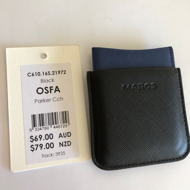 Marc's black leather card holder RRP $69