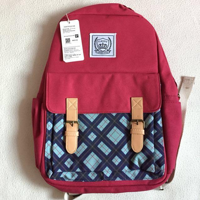 #MidJan55 🆕Korea Canvas Backpack 🎒