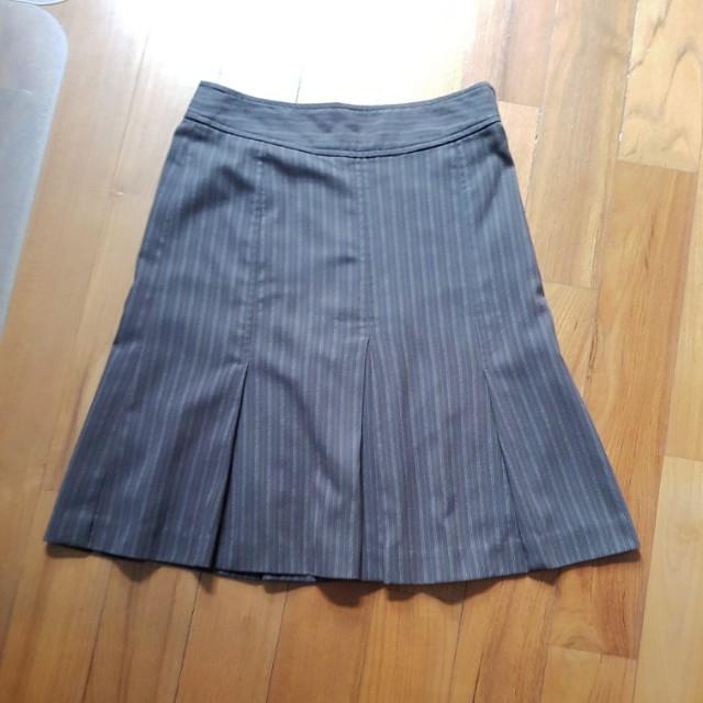 #CNY88 Melange A line skirt office OL