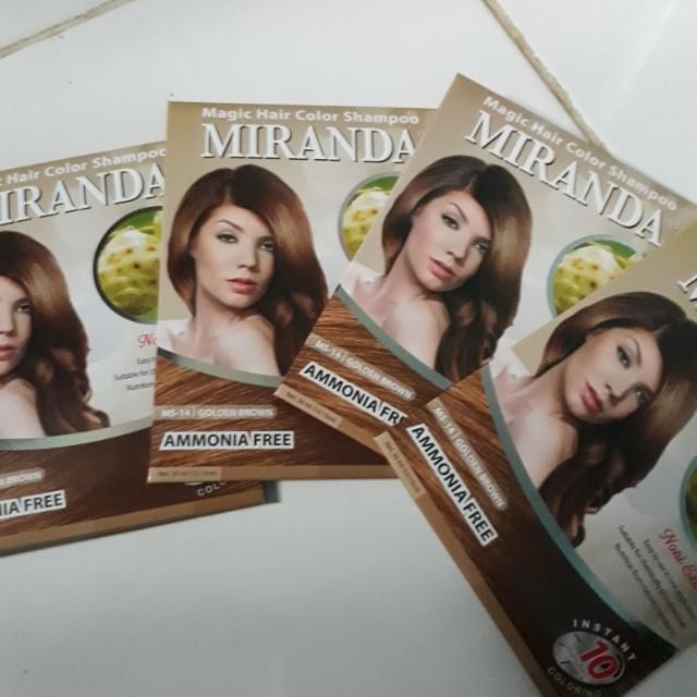 Miranda hair color shampo golden brown