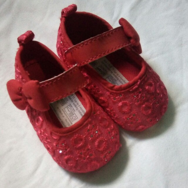 Mothercare Red Crib Shoes