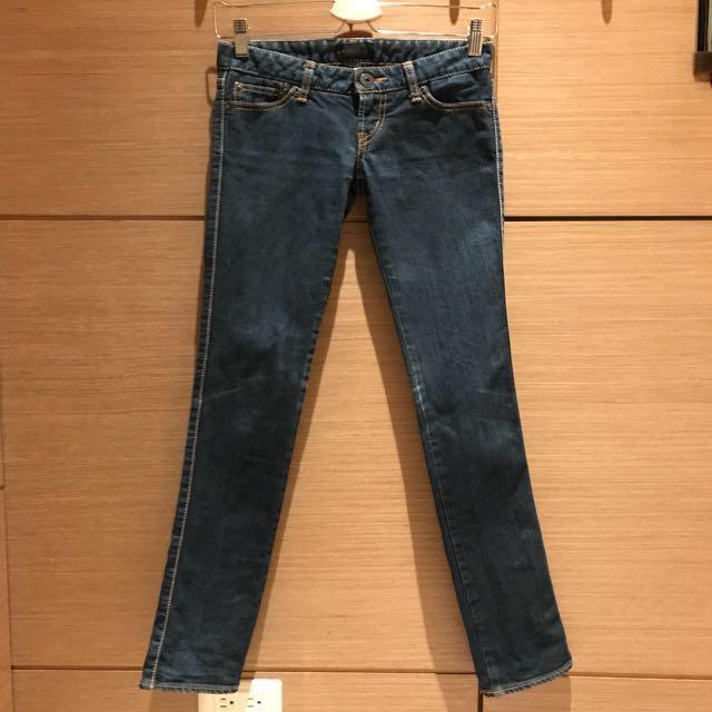moussy藍色低腰牛仔褲‼️免運‼️