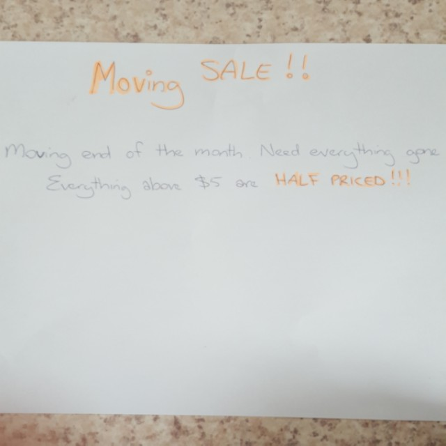 MOVING SALE-everything must go!