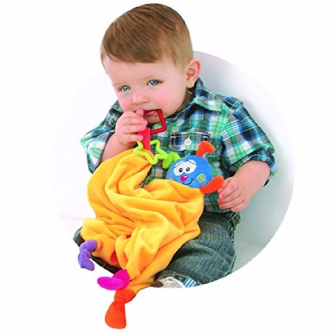 (NEW) Baby Blankie Teething Chewing Development Toy - Petite Creations