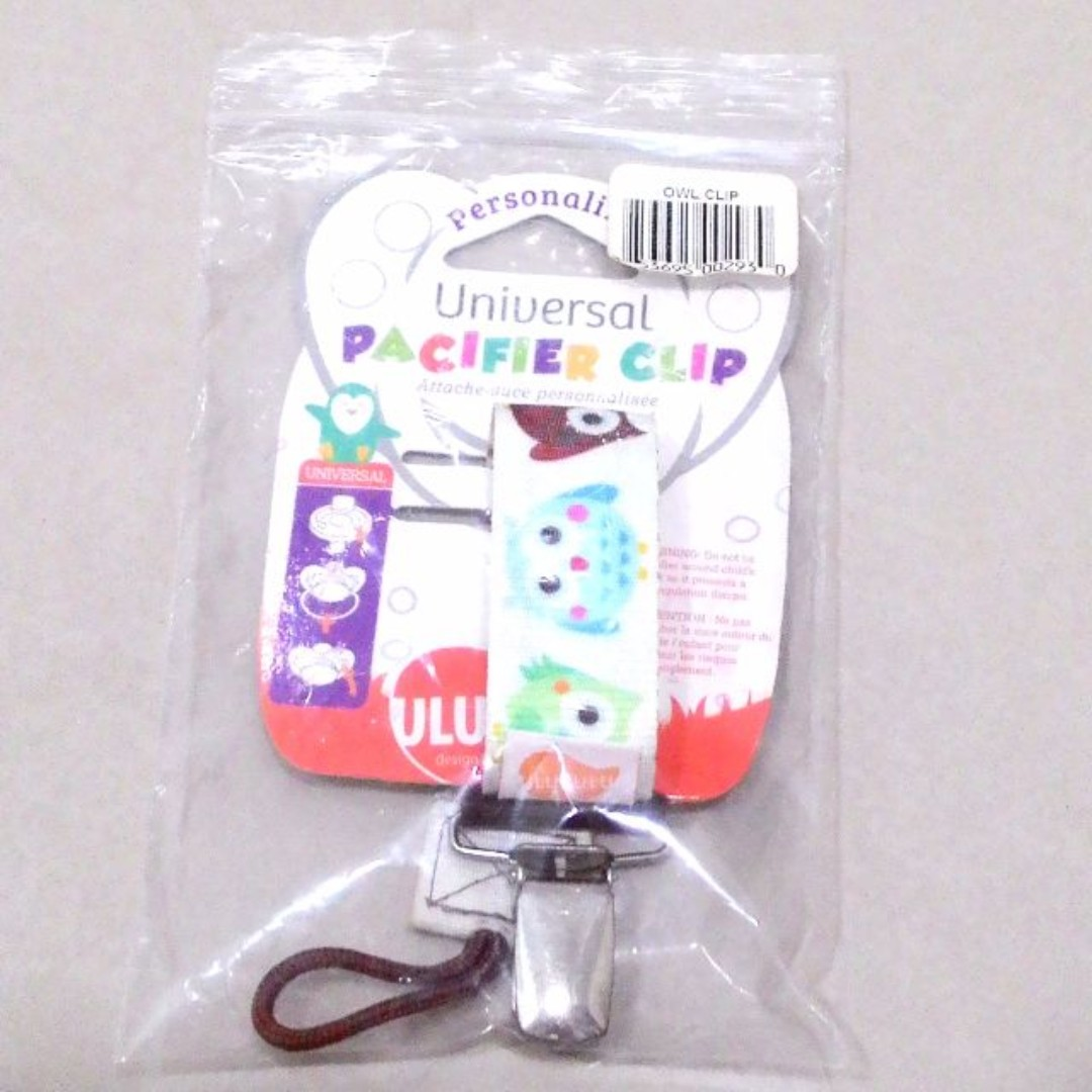 (NEW) Ulubulu Universal Baby Pacifier Clip, Oliver Owl - #1 Best Seller in USA