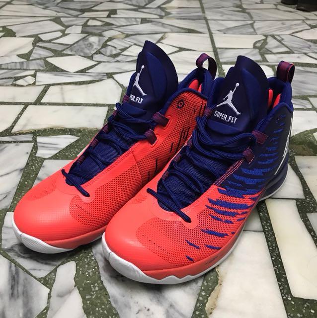 Nike Air Jordan Superfly 5 紅藍 zoom flight US10