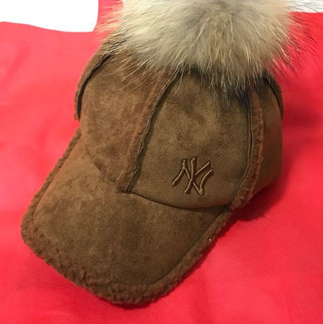 NY棒球帽-咖啡色/頭圍可調(全新)