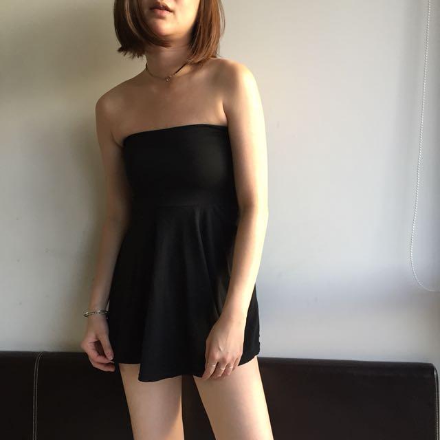 Off shoulder black top