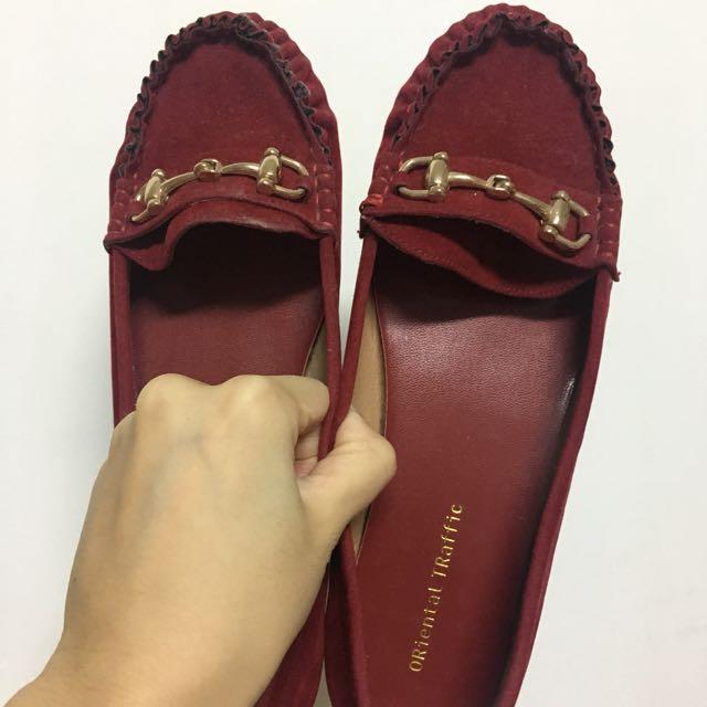 ORiental TRaffic 日本品牌 紅色平底鞋