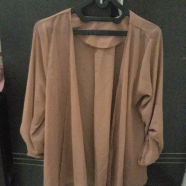 Outer chiffon brown