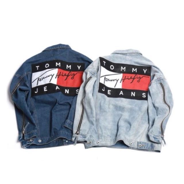 Oversized Tommy Hilfiger denim jacket, Women s Fashion, Clothes on Carousell 40259d0646