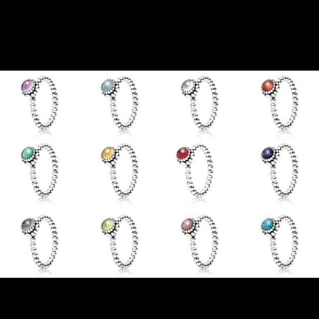 Pandora Ring Birthstone Collection Women S Fashion Jewellery On