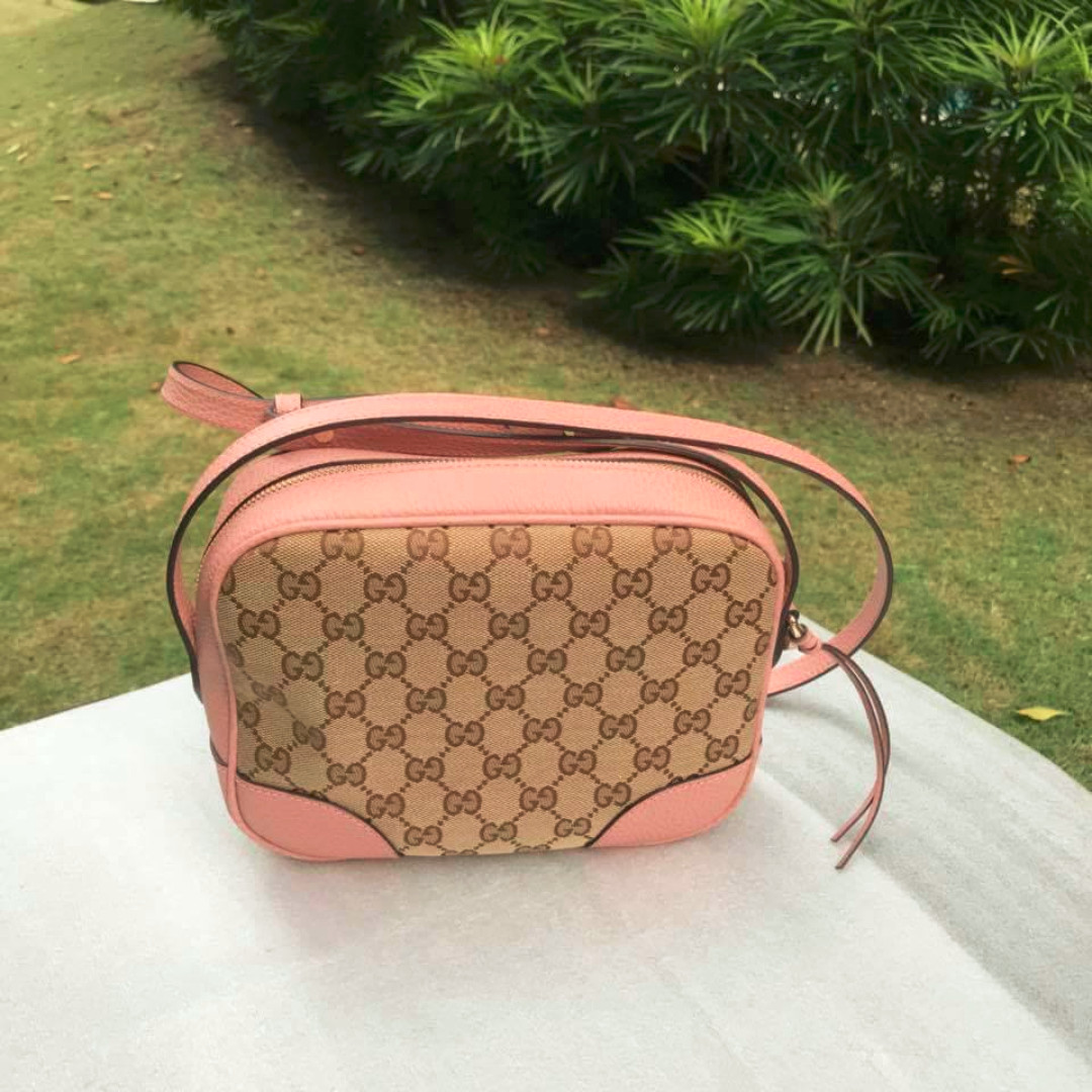 3c0ae1c9cf0 PERFECT CNY - Gucci 449413 Beige Canvas Leather GG Guccissima BREE Crossbody