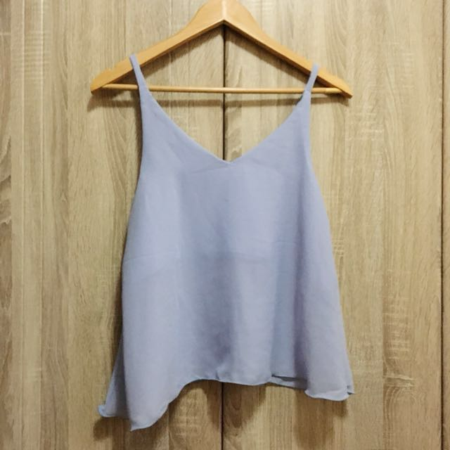 Periwinkle blue flowy top