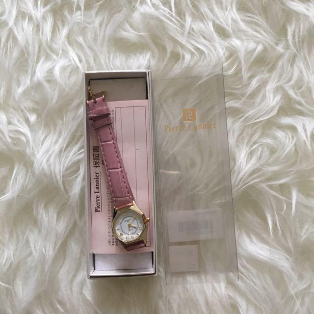 Pierre Lannier mini pink watch