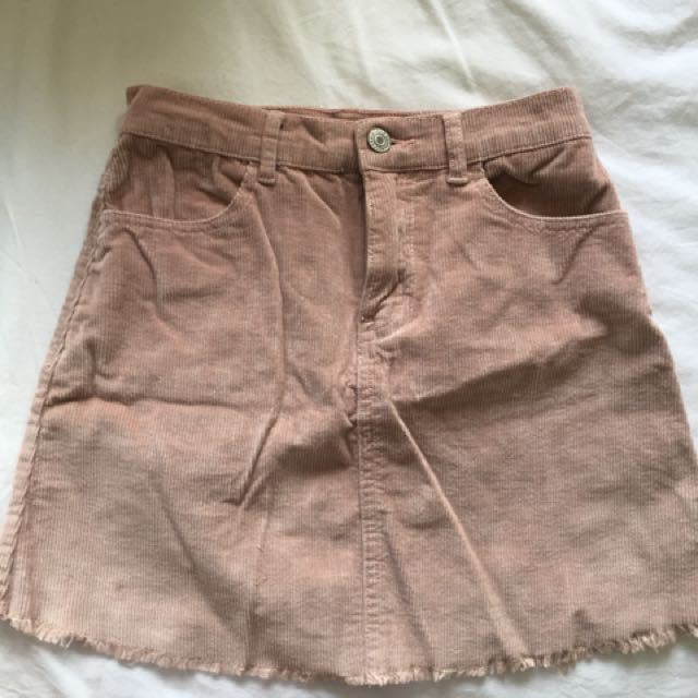 Pink cordouroy skirt, basically brand new I haven't worn it. Bought from Brandy Melville in Hawaii for $60. Perfect condition