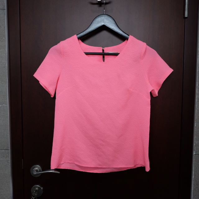 Pink neon blouse