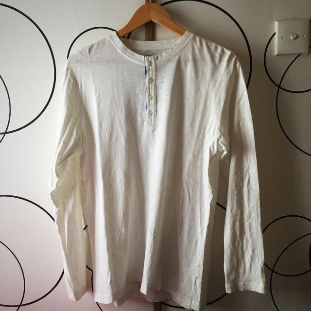 Plain white long sleeve tshirt by Hammer