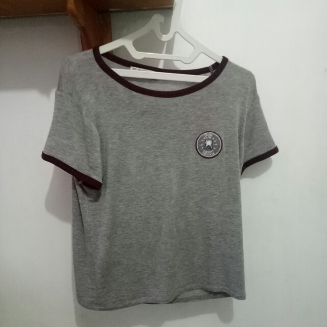 Pull&Bear Crop T-Shirt