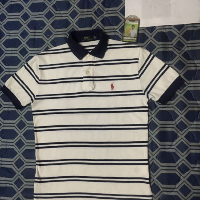 Ralph Lauren White Stripes Poloshirt