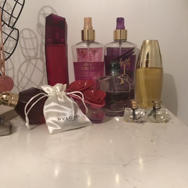 Range of Perfumes
