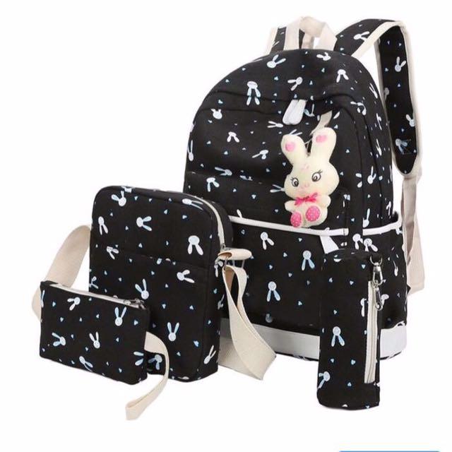 360WISH tiga lapis Canvas ransel tas tangan Ransel Tas Sekolah tas pria wisata untuk luar ruangan. Source · Ransel Wanita 4 in 1 Murah - Tas Bunny Lucu ...