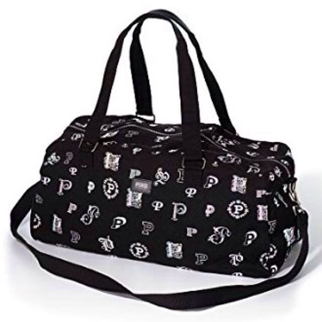 RARE HTF VS PINK MONOGRAM PRINT CANVAS DUFFLE BAG
