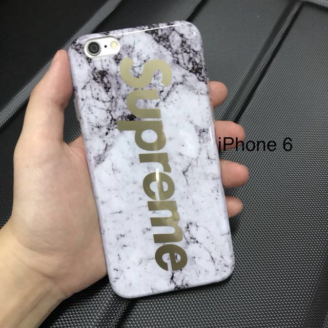 reputable site 0cf2b 1125a Ready Stock: Supreme Marble Phone 6 Case