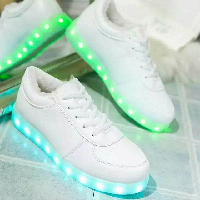 Readystock white LED party dancing shoe