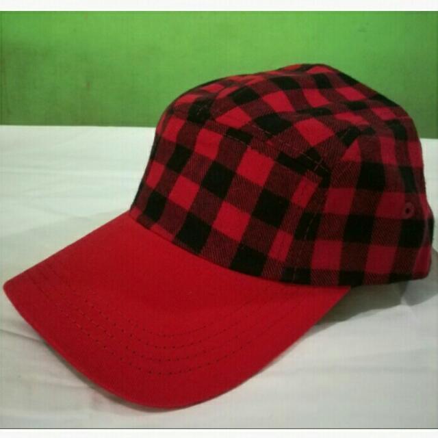 Red & Black Checkered Cap