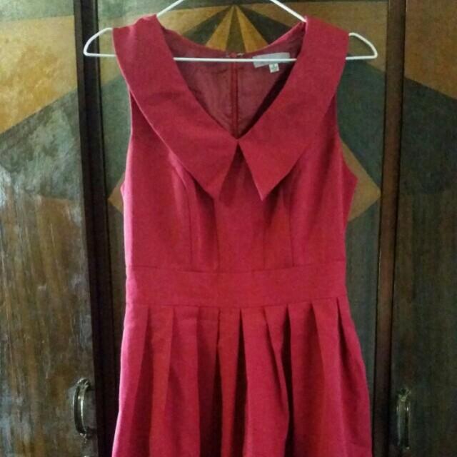 Red vintage look dress