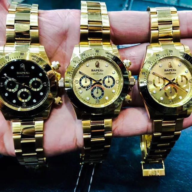 Rolex X Bape Watch Men S Fashion Watches On Carousell