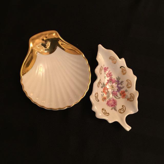 Royal Worcester and Limoges Porcelain Dishes