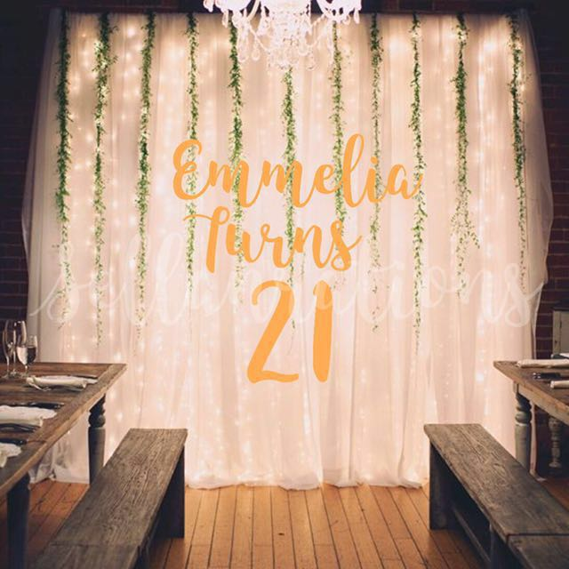 [Sellabrations] 21st Birthday Party Customised Backdrop