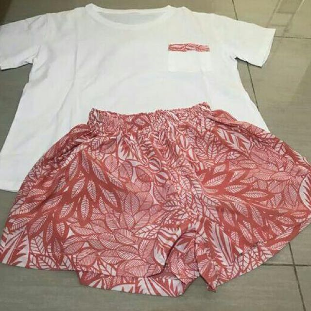 Set Piyama Short + TShirt