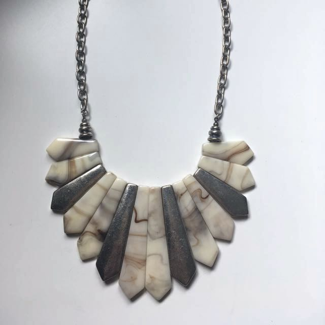 Silver and Shell Necklace